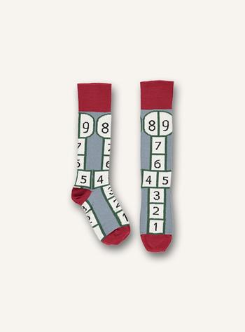 Kniekousen Hopscotch sock - Slate  Kousen  Kniekousen