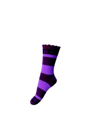 kousen Julie paars gestreept  Kousen  Kousen/sokken