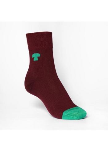 kousen/sokken bordeaux met groen accent  Kousen  Kousen/sokken