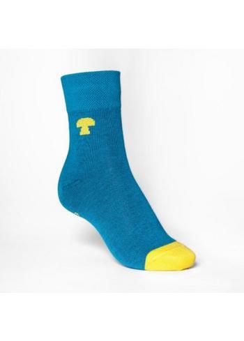 kousen/sokken petrol/geel  Kousen  Kousen/sokken