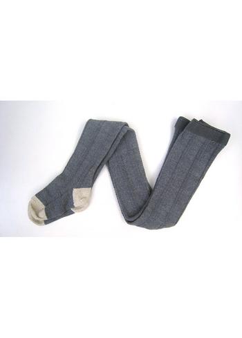 Kousenbroek met verticale kabel Elvina grey melange, wol  Kousen  Kousenbroeken - Panty's