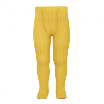Kousenbroek met fijne rib geel  Kousen  Kousenbroeken - Panty's
