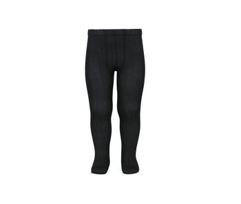 Kousenbroek met fijne rib zwart  Kousen  Kousenbroeken - Panty's