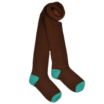 Kousenbroek met opliggend harlekijn motief chocolate brown  Kousen  Kousenbroeken - Panty's