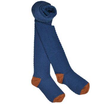 Kousenbroek met opliggend harlekijn motief Lapis blue  Kousen  Kousenbroeken - Panty's