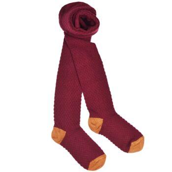 Kousenbroek met opliggend harlekijn motief Red Dhalia  Kousen  Kousenbroeken - Panty's