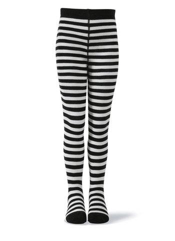 Kousenbroek zwart/wit gestreept  Kousen  Kousenbroeken - Panty's