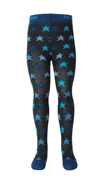 Kousenbroekje 'sterretjes' blauw/zwart  Kousen  Kousenbroeken - Panty's