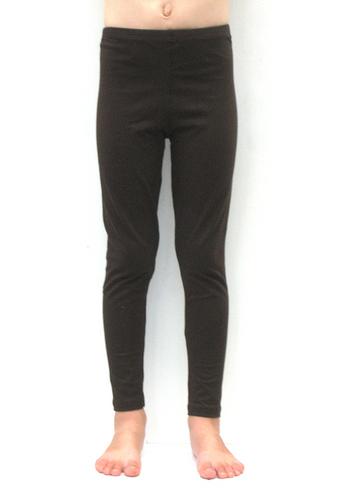 lange legging donker bruin  Kousen  Leggings