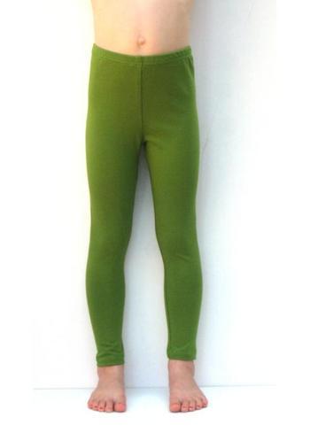 Lange legging olijfgroen  Kousen  Leggings