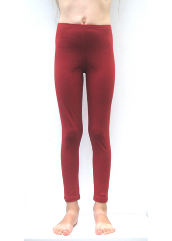 Lange legging Steenrood  Kousen  Leggings