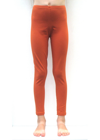 Lange legging terracotta/roest  Kousen  Leggings