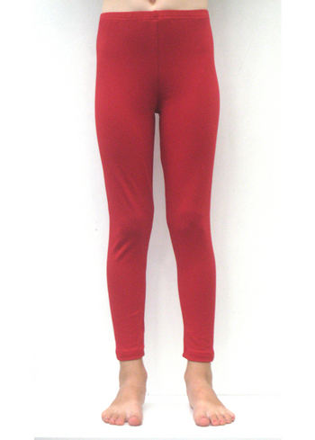 Lange legging warm rood  Kousen  Leggings