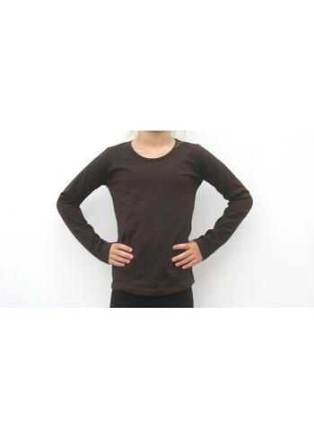 Longsleeve donker bruin  Kousen  Shirts