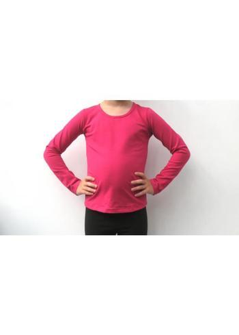 Longsleeve donker fuchsia  Kousen  Shirts