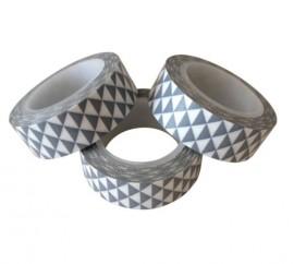 Masking tape grafische driekhoekjes grijs  Karton  Masking tape/Washi tape