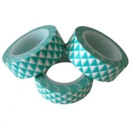Masking tape grafische driekhoekjes munt  Karton  Masking tape/Washi tape
