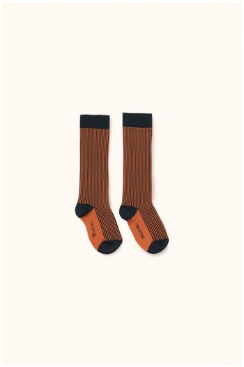 multi lines high socks navy/red  Kousen  Kniekousen