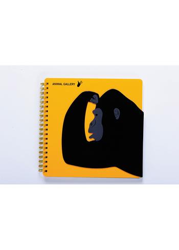 Notaboek spiraal Gorilla  Karton  Kaartjes enzo