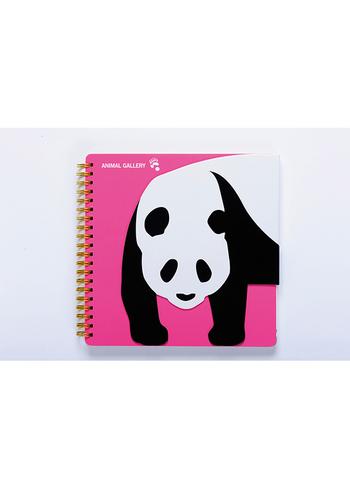 Notaboek spiraal Panda  Karton  Kaartjes enzo