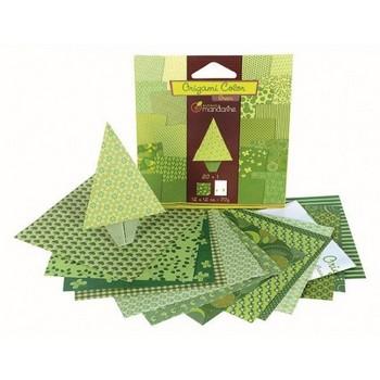 Origami groen  Karton  Speelgoed / creatief