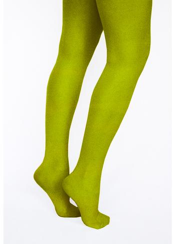 Panty/kousenbroek Mos groen  Kousen  Kousenbroeken