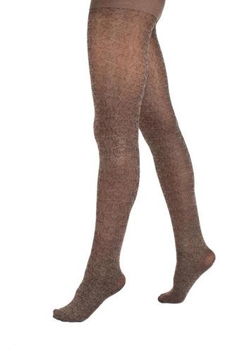 Panty Metallic Flower brown  Kousen  Kousenbroeken - Panty's