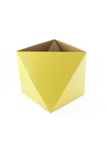 Papiermand OCTA Geel  Karton  Interieurdecoratie