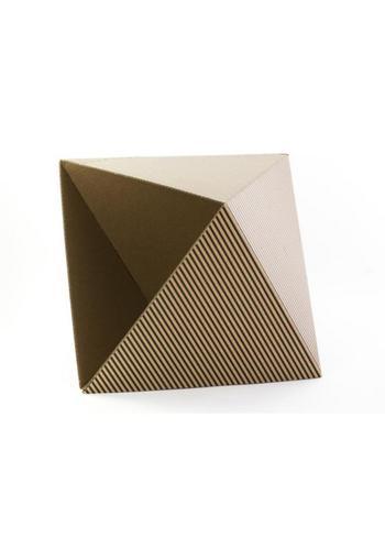 Papiermand OCTA zwart  Karton  Interieurdecoratie