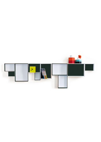 Pappap Shelf System Black & White  Karton  Interieurdecoratie
