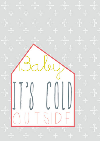 Postkaart Baby it's cold  Karton  Kaartjes enzo