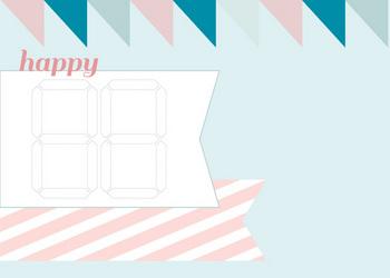 Postkaart Happy...  Karton  Kaartjes enzo