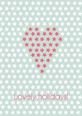 Postkaart 'KERST' Heart  Karton  Kaartjes enzo