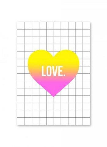 Postkaart 'Love'  Karton  Kaartjes enzo
