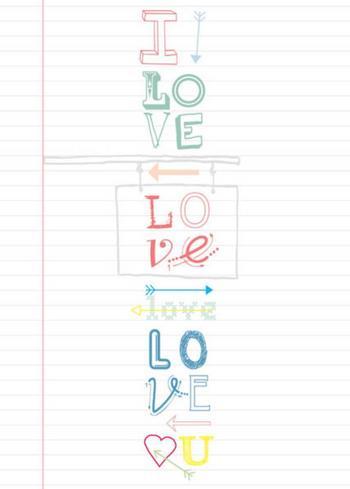 Postkaart Love  Karton  Kaartjes enzo