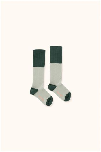 rice loop high socks pistacho/dark green  Kousen  Kniekousen