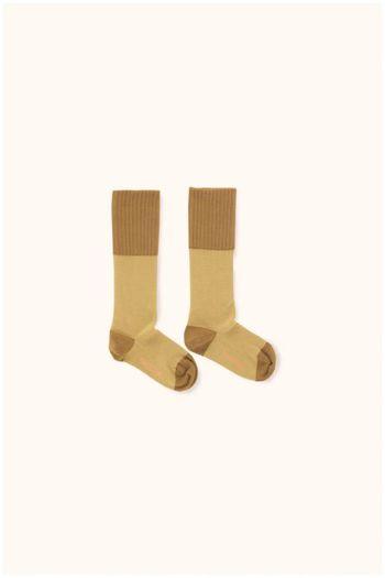 rice loop high socks sand/mustard  Kousen  Kniekousen