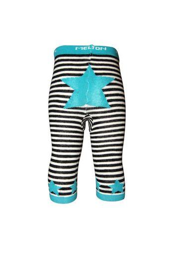Schattige gestreepte kousenbroek zonder voet ecru/zwart/blauw  Kousen  Kousenbroeken - Panty's