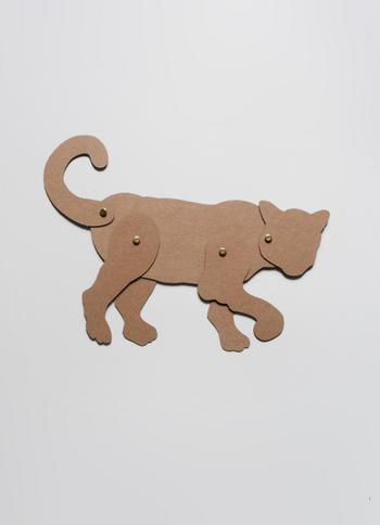 Schuifbeest Panter  Karton  Speelgoed / creatief