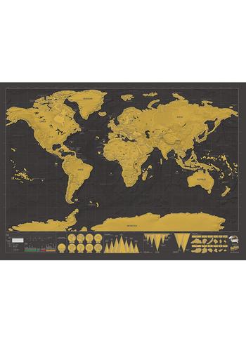 Scratch Map Deluxe  Karton  Kaartjes enzo