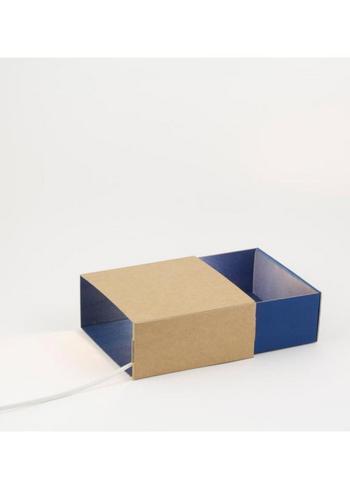 Sfeerlicht Matchbox blauw  Karton  Interieurdecoratie