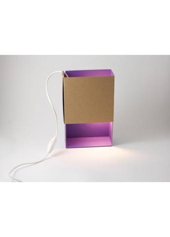 Sfeerlicht Matchbox paars  Karton  Interieurdecoratie