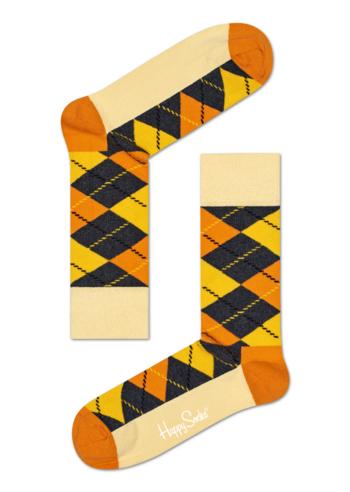 Sokken Argyle geel-oranje  Kousen  Kousen/sokken