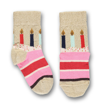 Sokken Birthday walkie talkie gold  Kousen  Kousen/sokken