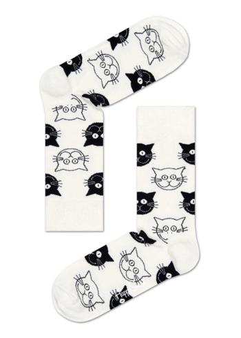 Sokken Cat White/Black  Kousen  Kousen/sokken