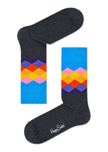 Sokken Faded Diamond Antraciet/blue  Kousen  Kousen/sokken