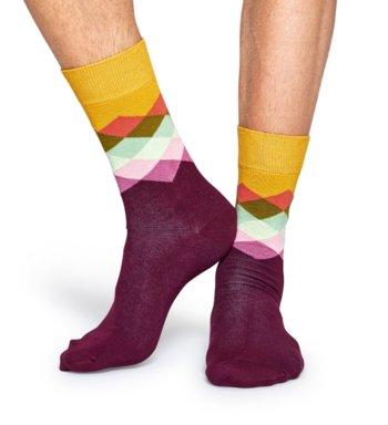 Sokken Faded Diamond bordeaux  Kousen  Kousen/sokken