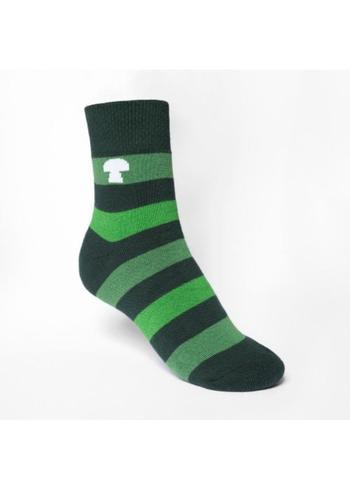 Sokken gewatteerd groen gestreept  Kousen  Kousen/sokken