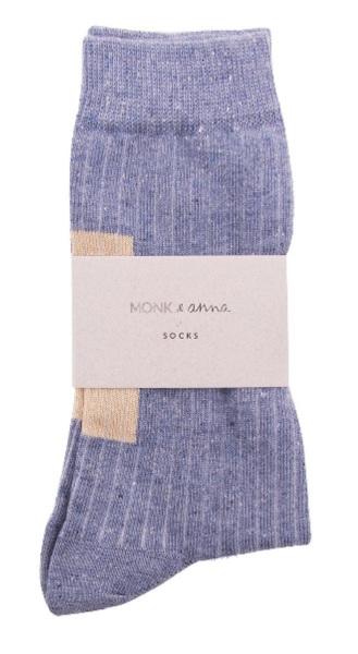 Sokken Glitter Greyish Blue  Kousen  Kousen/sokken