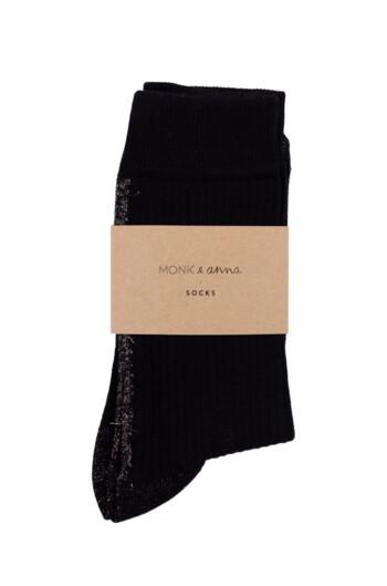Sokken Glitter Line Faded Black  Kousen  Kousen/sokken